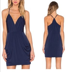 BCBGeneration | drape pockets dress navy S B-B5